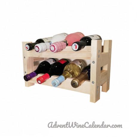 Wooden mini wine rack S