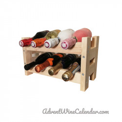 Wooden mini sparkling wine rack S