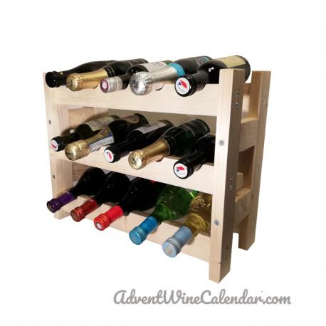 Wooden mini wine rack M