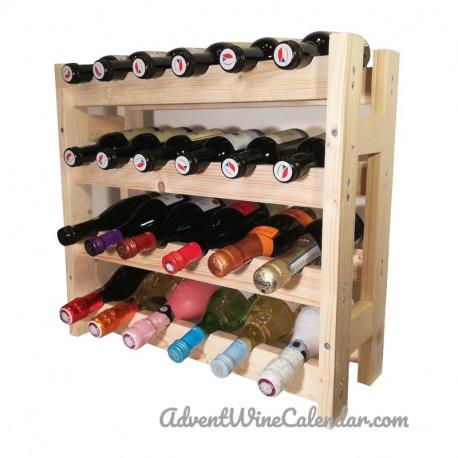 Wooden mini wine rack L